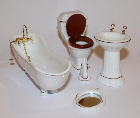 badezimmer set porzellan swisttaler puppenstuebchen. Black Bedroom Furniture Sets. Home Design Ideas