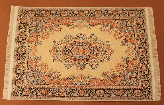 Teppich beige orange blau  swisttalerpuppenstuebchen