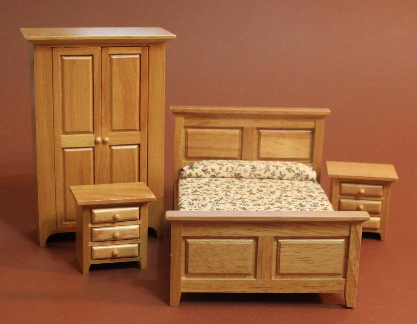 Schlafzimmer In Braun Swisttaler Puppenstuebchen