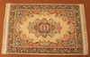 Teppich beige orange blau